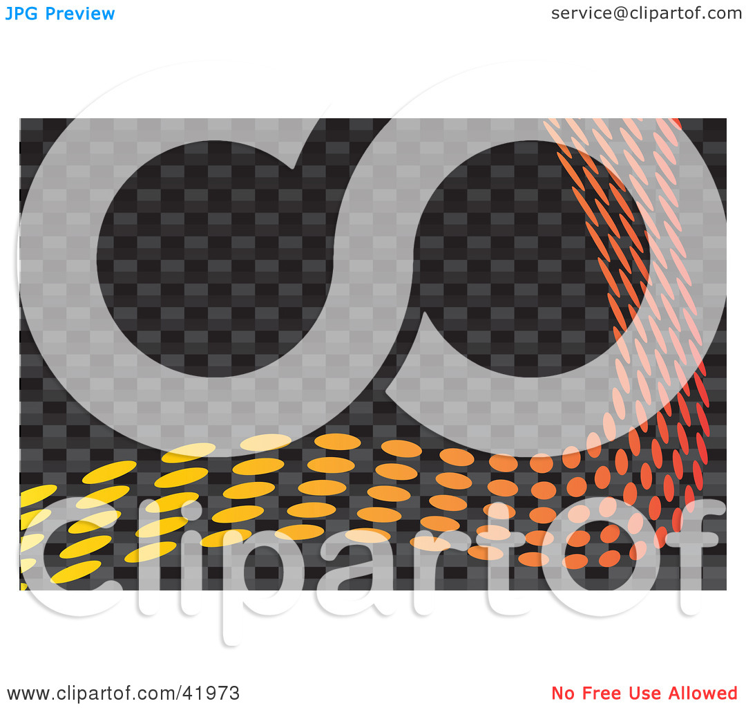 Clipart Illustration of a Colorful Wave Of Orange And Yellow Dots.