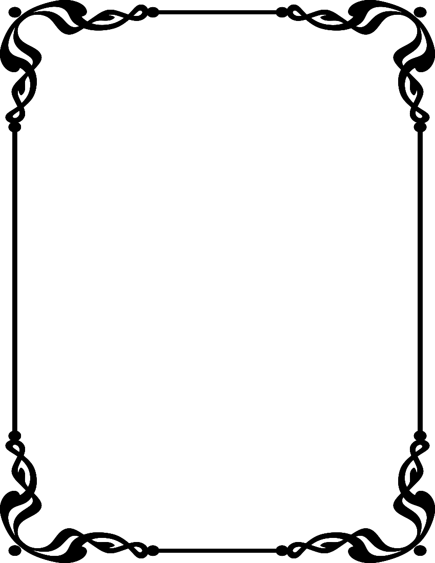 Single Line Border Clipart.