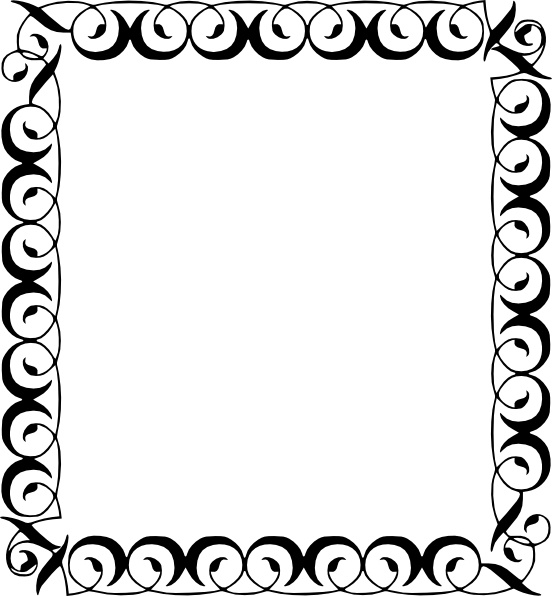 Decorative Border clip art Free vector in Open office drawing svg.