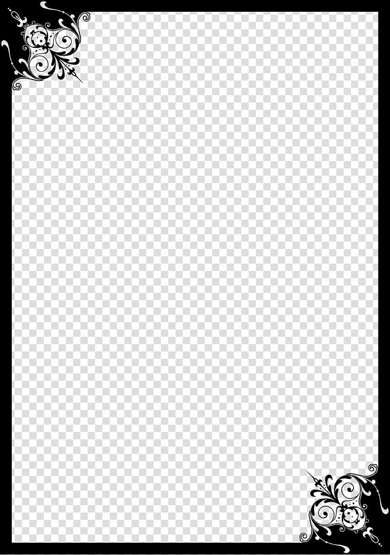 Original Kuroshitsuji Borders, black borderline transparent.