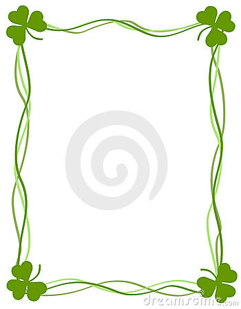 St Patricks Day Background Border Royalty Free Stock Photo.