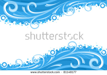 Water Border Stock Images, Royalty.
