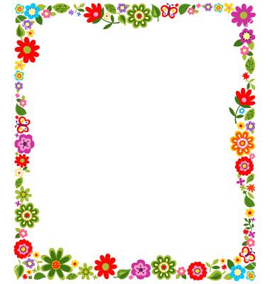 Floral border frame background vector 1244785.