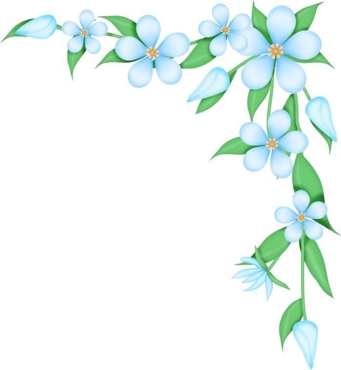 Flower Border Clip Art.