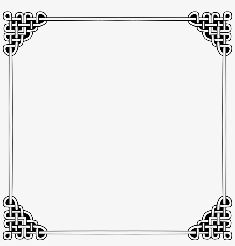Picture Black And White Stock Celtic Borders Clipart.