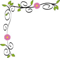 Simple Flower Borders Design HD.