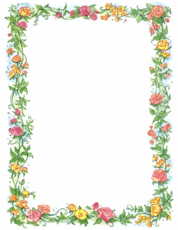 floral borders clipart #19