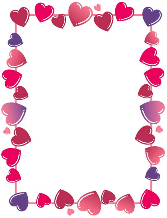 Bordes Decorativos De Corazones Para Imprimir clipart free image.