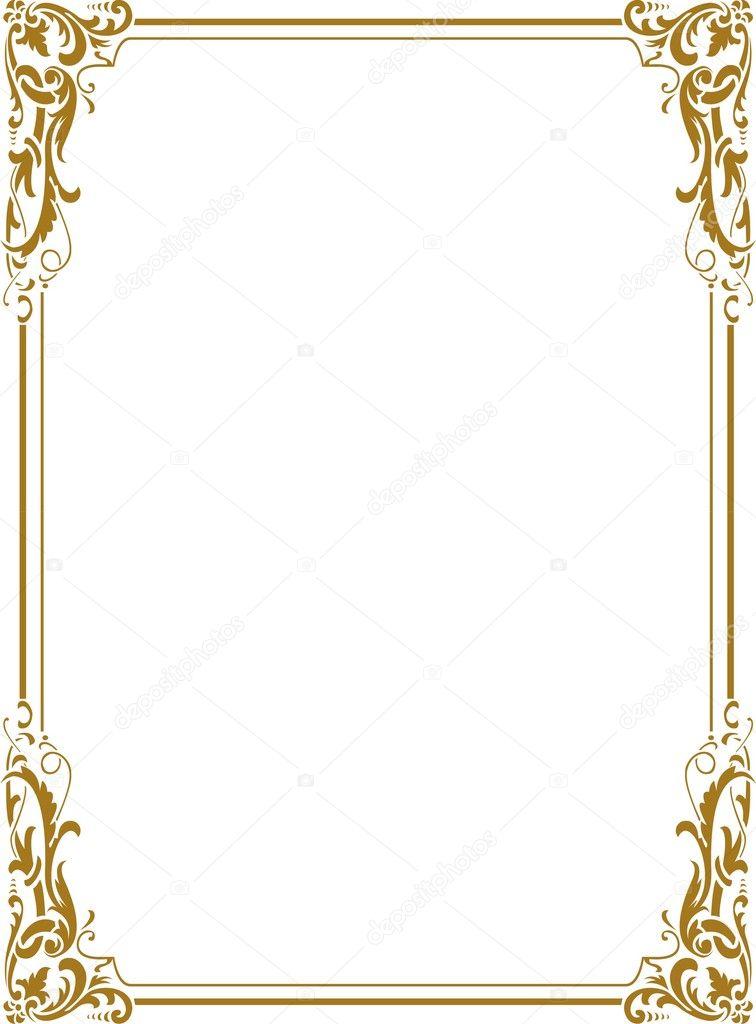 Vector: bordes dorados png.