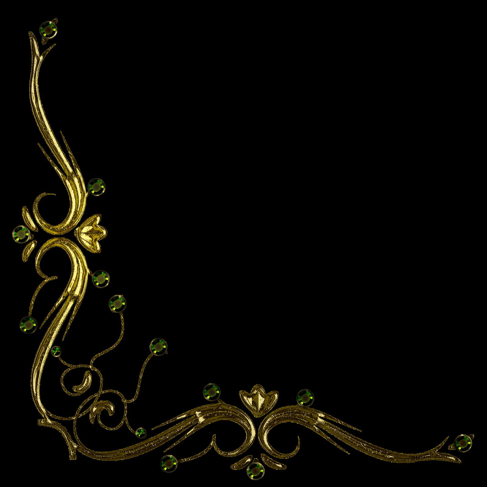 Bordes dorados png 4 » PNG Image.