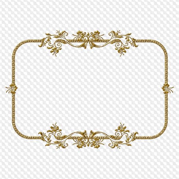 Borde de marco dorado, formato PNG, con fondo transparente, descarga.