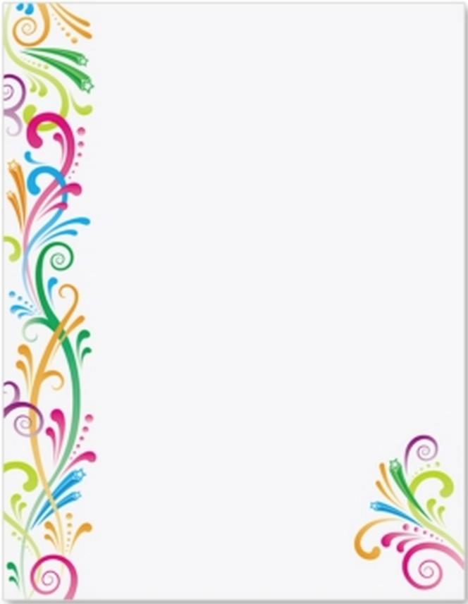 Bordes Decorativos Para Hojas De Papel Para Imprimir Png Vector.