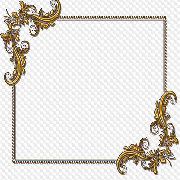 Oro Bordes, decorativos Marcos transparentes PNG, libre para uso.