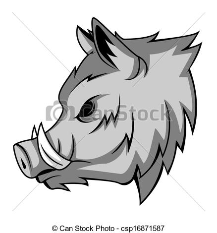 Vector of wild boar csp16871587.