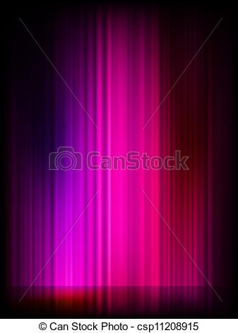 Vector Clip Art of Northern Lights (Aurora borealis). EPS 8 vector.