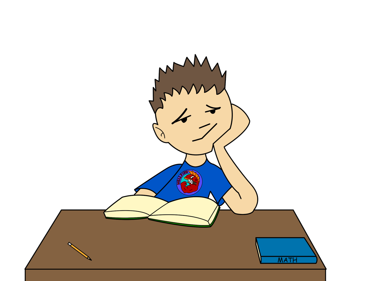 Student bored clipart.