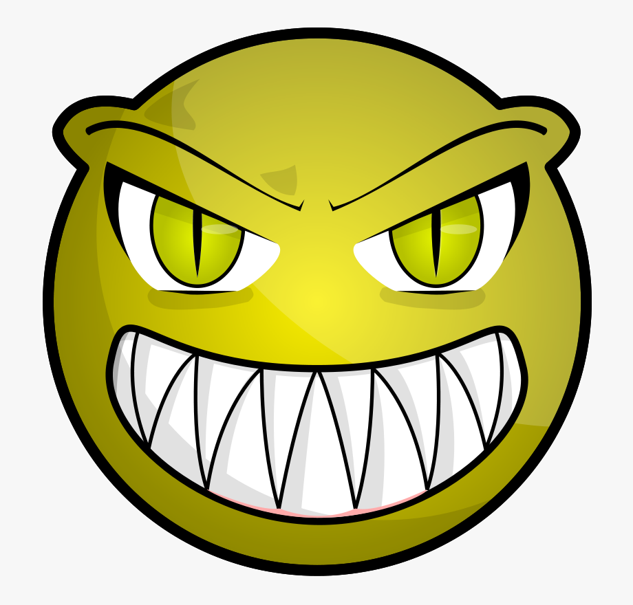 Clipart Of Face, Scary And Boring Face.