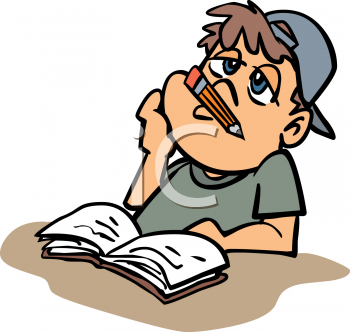 Bored Student Clipart.