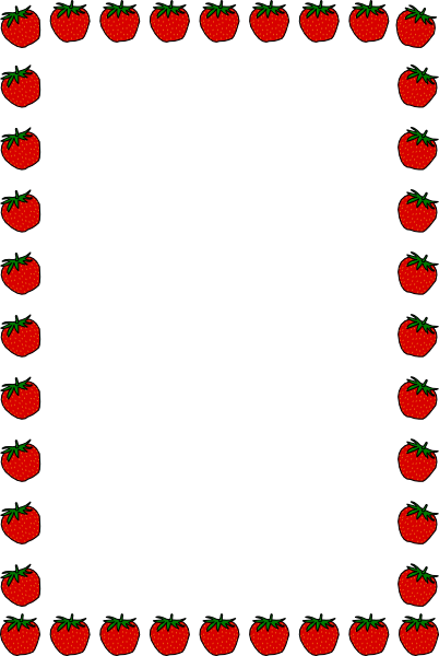 Fruits And Vegetables Border Clipart.