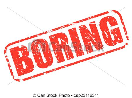 Vector Clip Art of Boring red stamp text on white csp23116311.