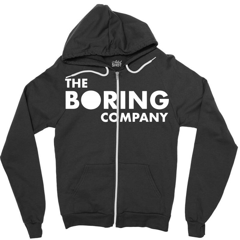 The Boring Company Logo Zipper Hoodie. By Artistshot.