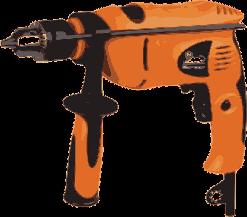 Free vector graphic: Drill, Boring Machine, Power Drill.