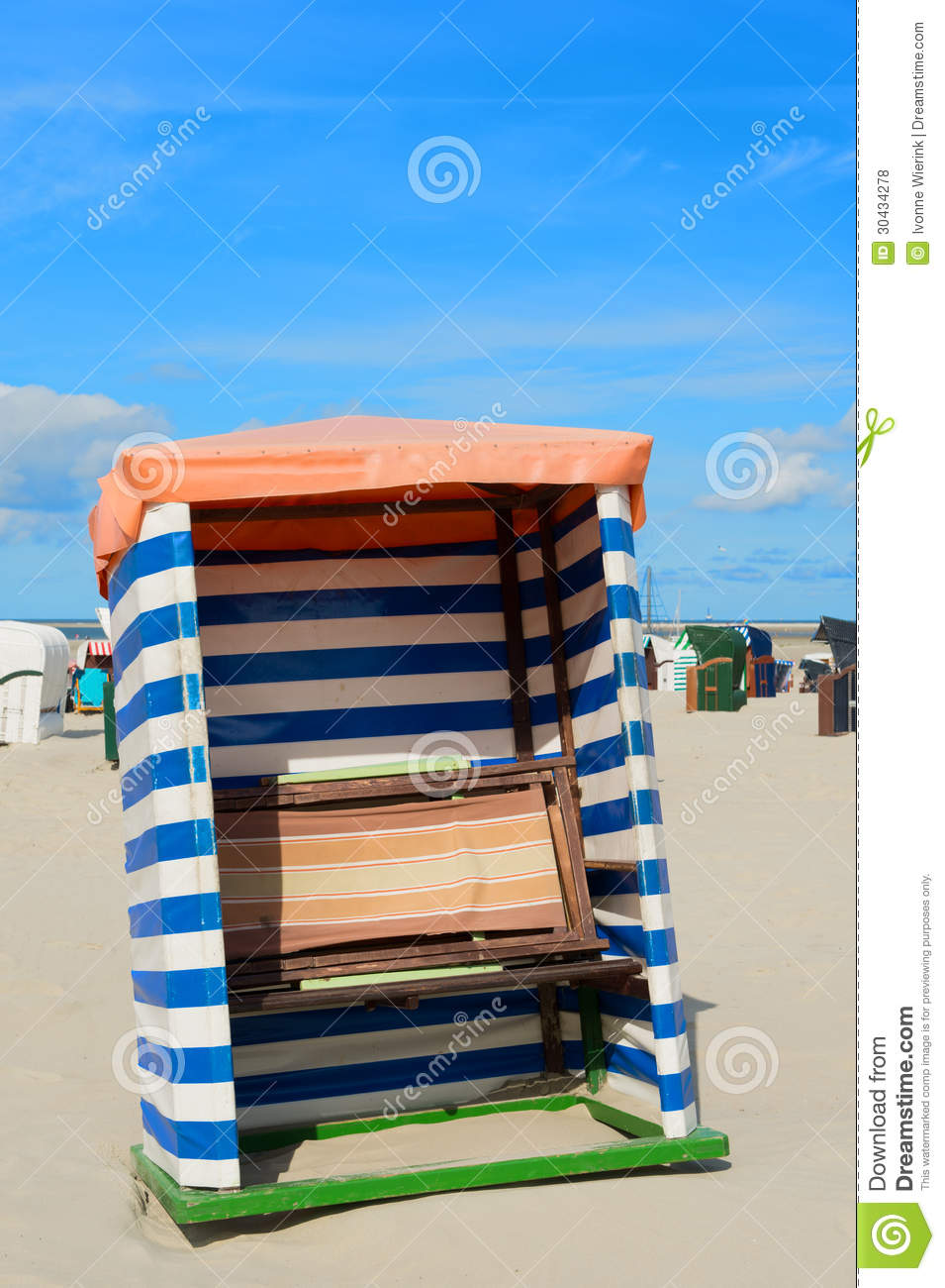 Beach Tent Borkum Royalty Free Stock Photos.