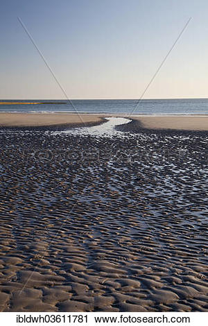 "Stock Photography of ""Low tide on Suedstrand beach, Lower Saxon."