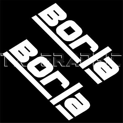 DECALS FOR BORLA Logo Exhaust Vinyl Sticker Muffler Header.
