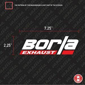 Details about 2X BORLA EXHAUST logo sticker vinyl decal.