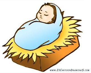 Jesus born clipart.