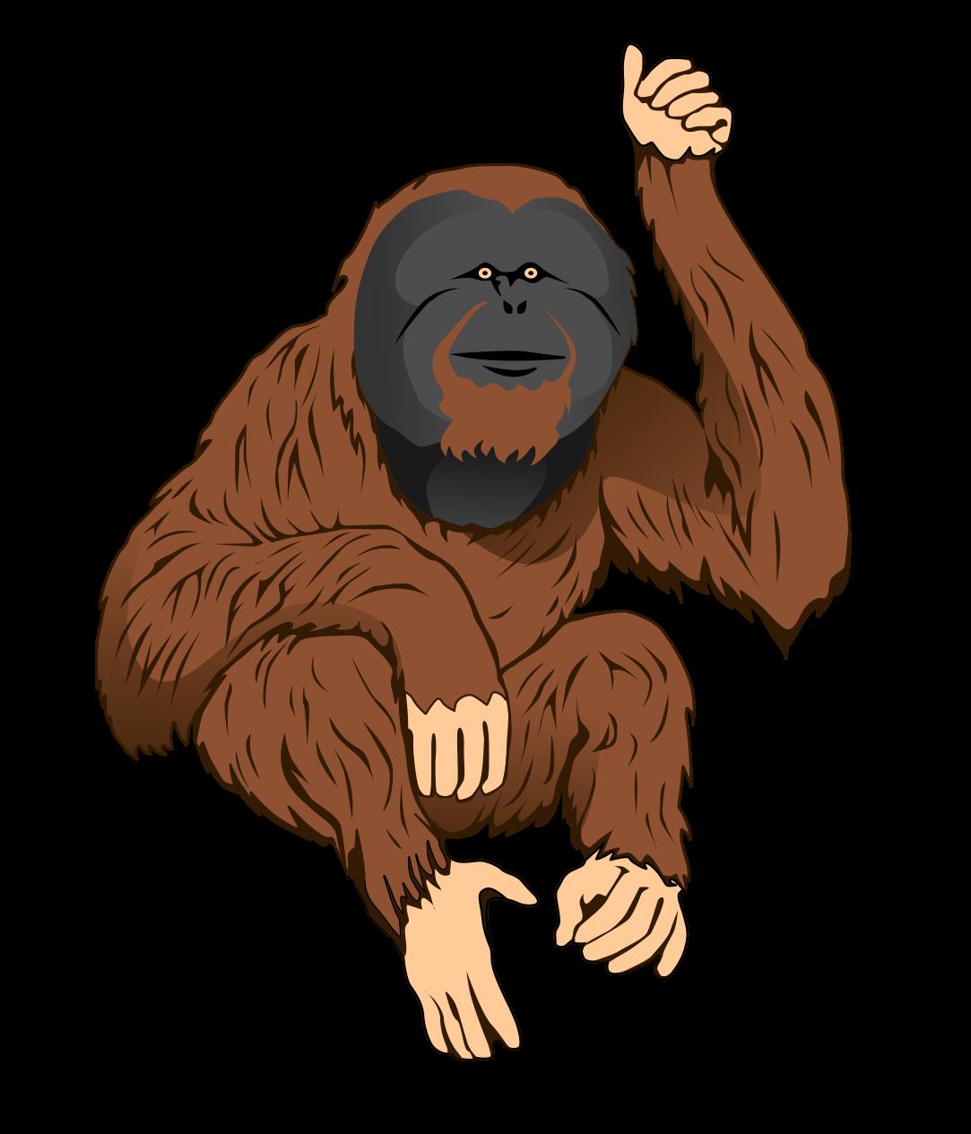 Free Orangutan Clip Art.