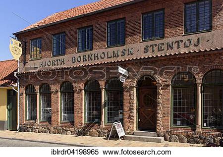 Stock Image of Ceramics museum Hjorths Keramkikfabrik, Ronne.