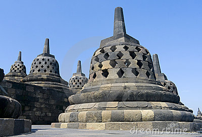 Buddhist Temple Borobudur. Yogyakarta Stock Photo.