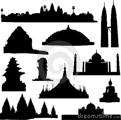 Borobudur Stock Illustrations.