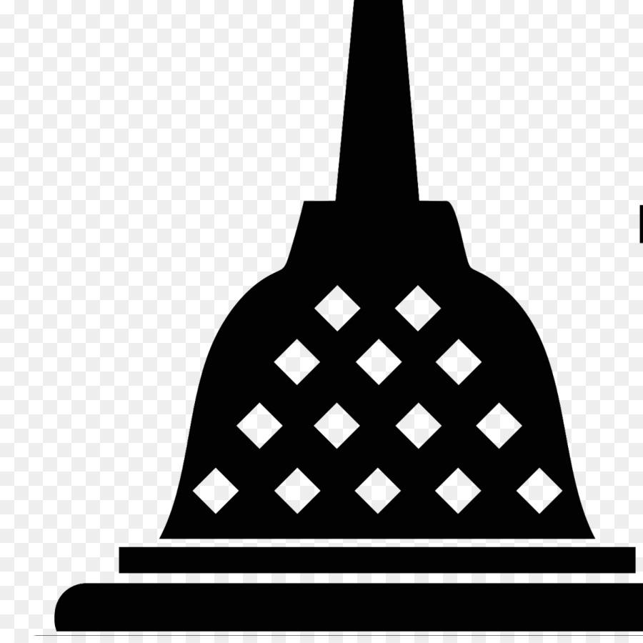 Borobudur Silhouette png download.