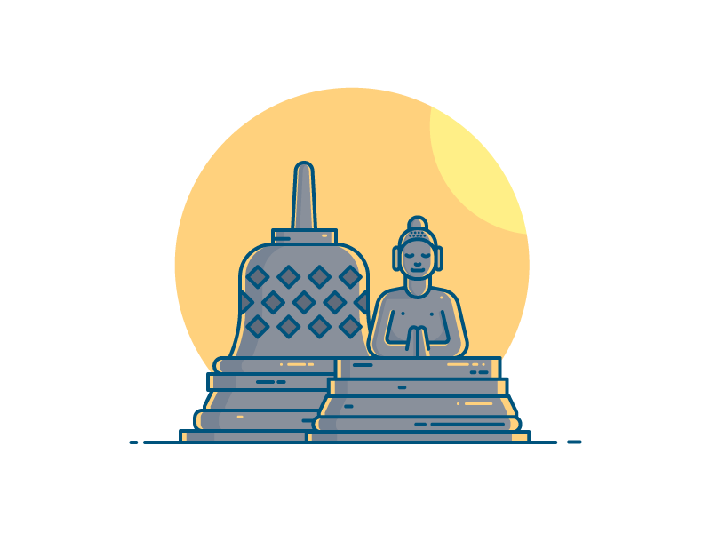 Borobudur Temple by Imam Syafei Hidayat on Dribbble.