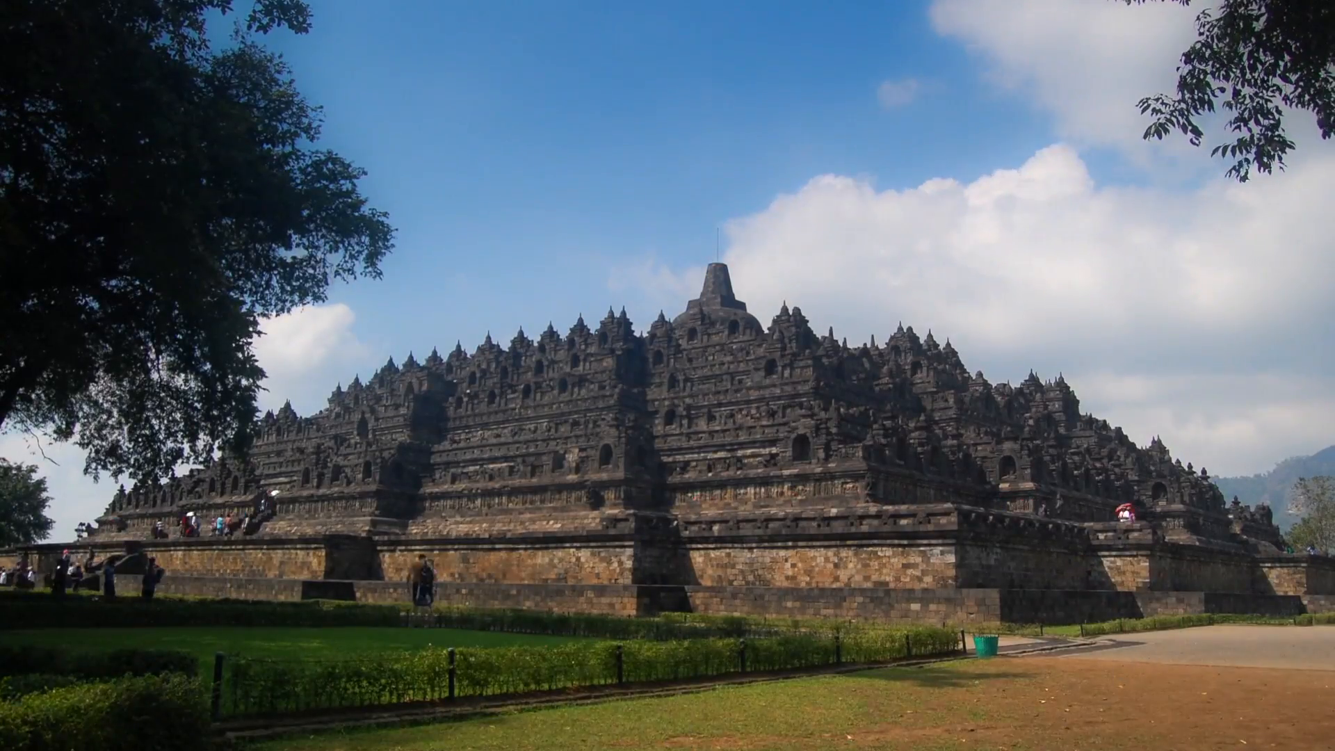Time lapse of Borobudur Temple, Central Java, Indonesia. Stock Video  Footage.