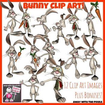 Funny Bunny Clip Art.