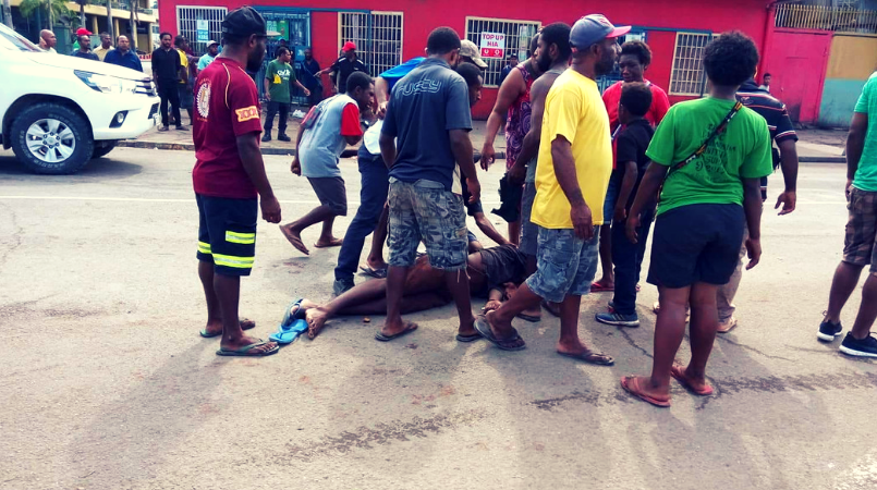 Young man wounded, tension high at Boroko.