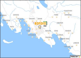 Boroko (Papua New Guinea) map.