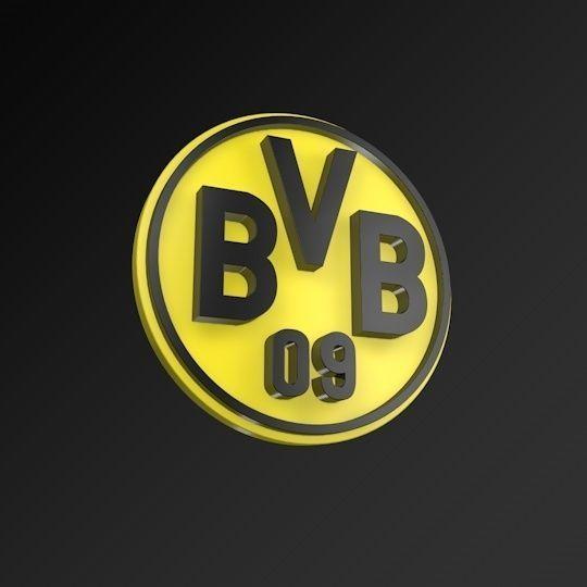 Borussia Dortmund FC Football Club 3D Logo.