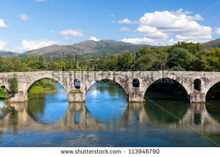 Stone Bridge Reflection Stock Photos, Royalty.