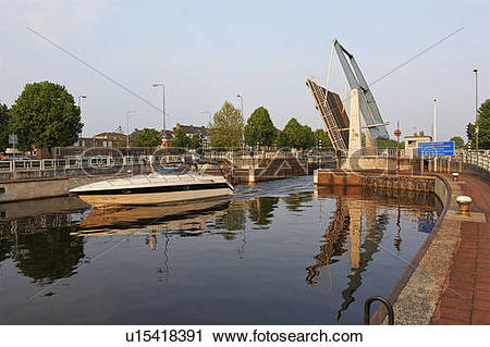 Stock Photography of den bosch north brabant holland canal boat.