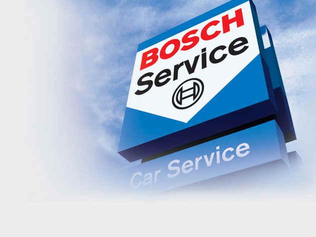 Bosch car service logo.