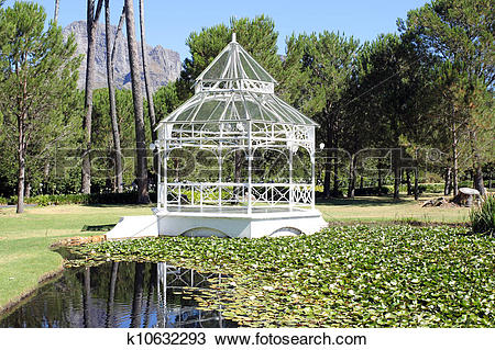 Stock Photo of Pavilion at the Boschendal Wine Estate k10632293.