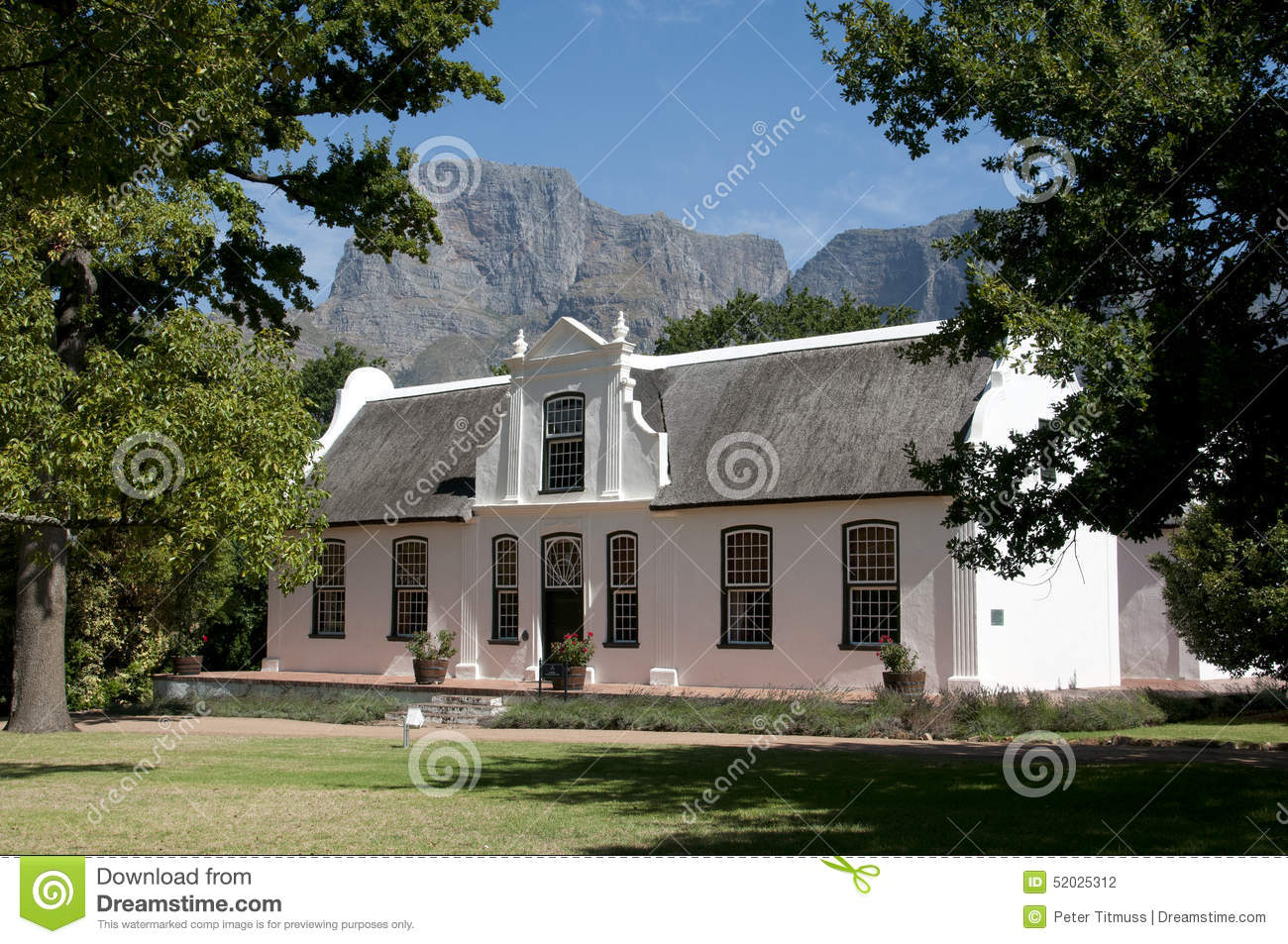 Cape Style Manor House At Boschendal Wine Estate South Africa.