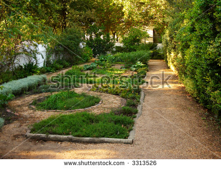 Small Herb Garden In The Park At Boschendal Wine Farm In.