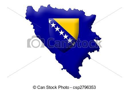 Drawings of Bosnia and Herzegovina csp2796353.