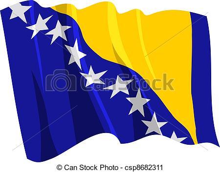 Bosnia herzegovina flag Clipart and Stock Illustrations. 1,674.
